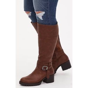 NWB Torrid Brown Lug Sole Knee High Boots 8.5 WW